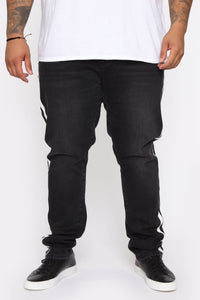 Arthur Striped Skinny Jean - Black Angle 9