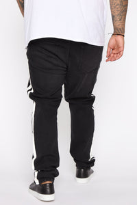 Arthur Striped Skinny Jean - Black Angle 12