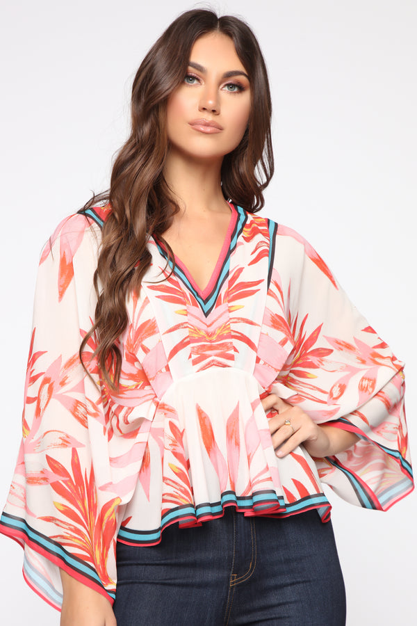 0c0c6ebc8ef Vacation Bliss Top - Red/combo