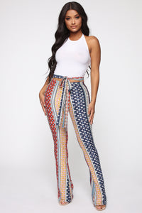 Babes Do It Better Pants - Navy/Multi Angle 1