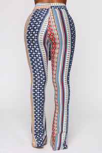 Babes Do It Better Pants - Navy/Multi Angle 6