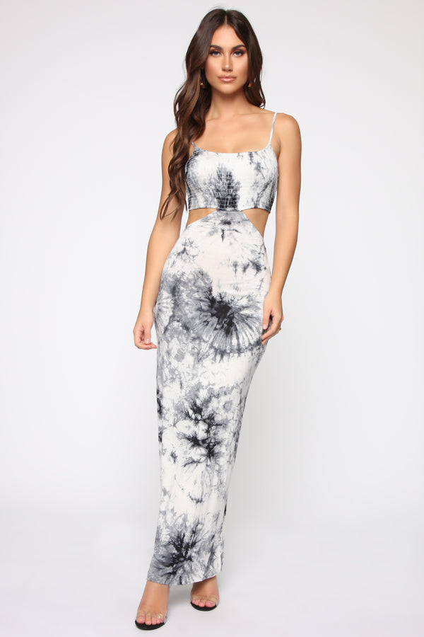 9af9a40ad0 Spread Some Love Tie Dye Maxi Dress - Black White