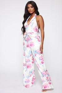 Carolina Jumpsuit - White/Combo Angle 3