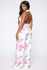 Carolina Jumpsuit - White/Combo Angle 4