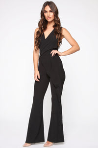 Head Held High Asymmetrical Jumpsuit - Black Angle 3