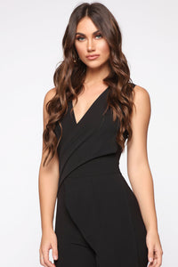 Head Held High Asymmetrical Jumpsuit - Black Angle 2