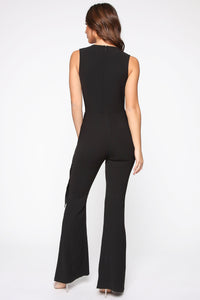 Head Held High Asymmetrical Jumpsuit - Black Angle 4