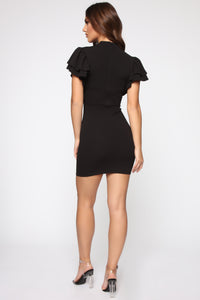 Keeping Secrets Mini Dress - Black