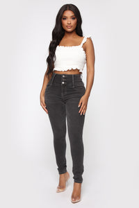 Not Your Girl Skinny Jeans - Charcoal