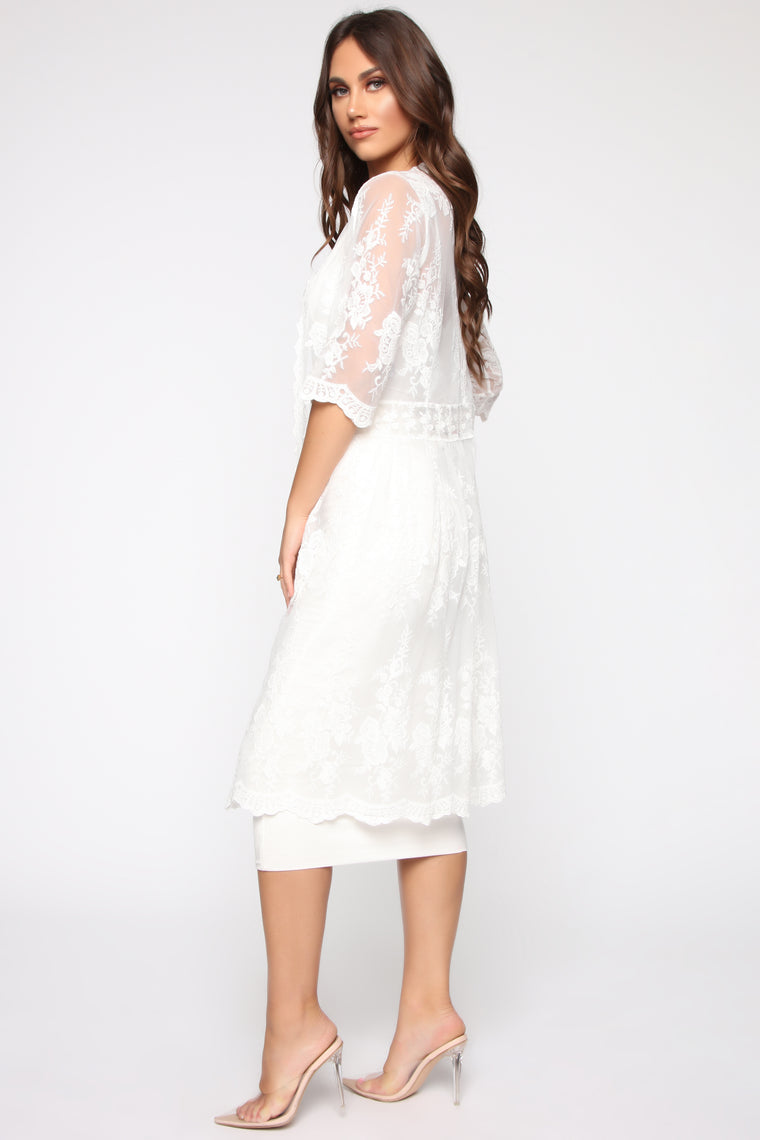 Can Sheer The Real You Kimono - Ivory