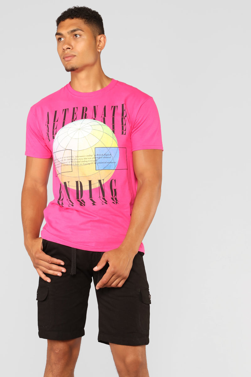 Alternate Ending Short Sleeve Tee - Pink