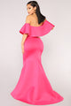 Cute But Salty Mermaid Dress - Fuchsia