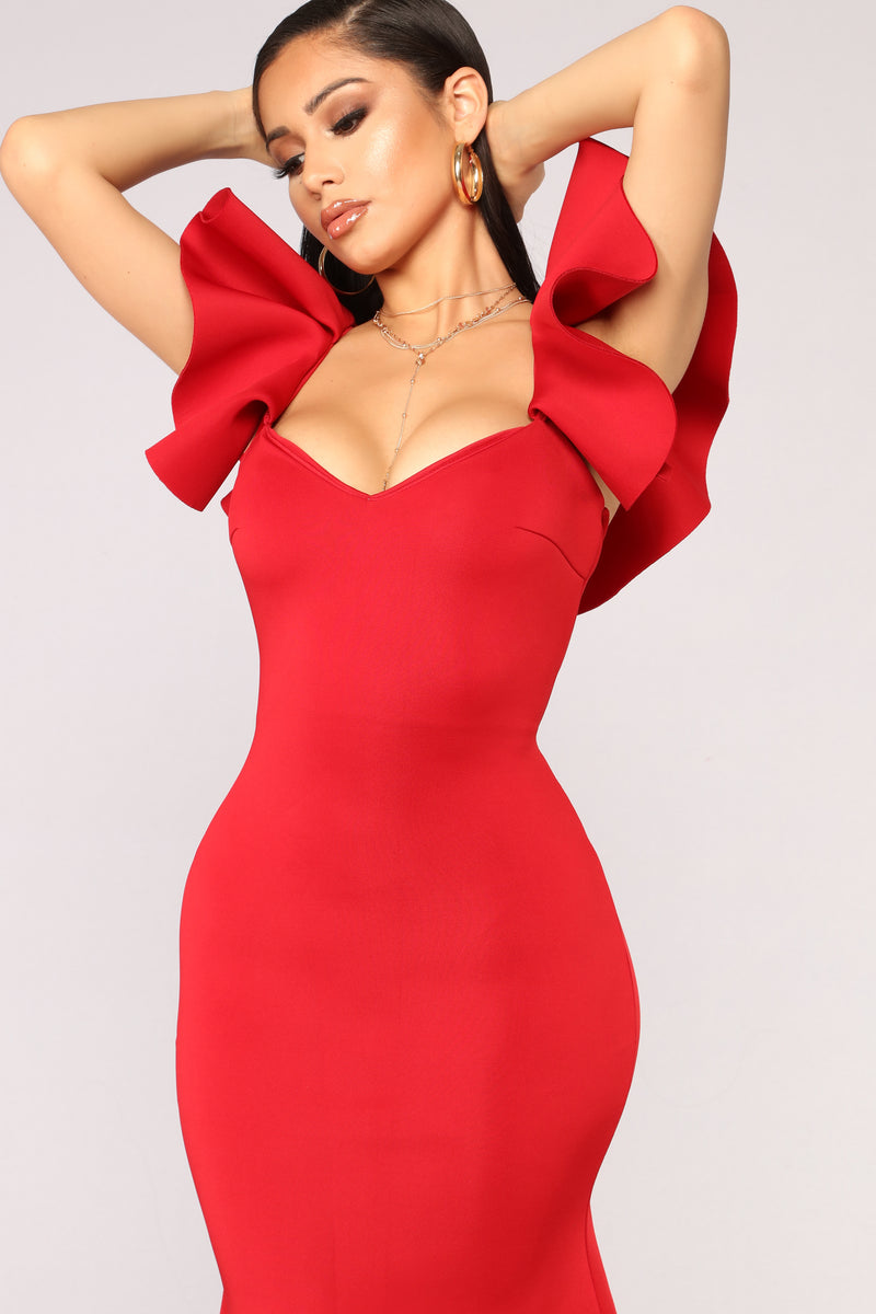 Salty Babe Mermaid Dress - Red