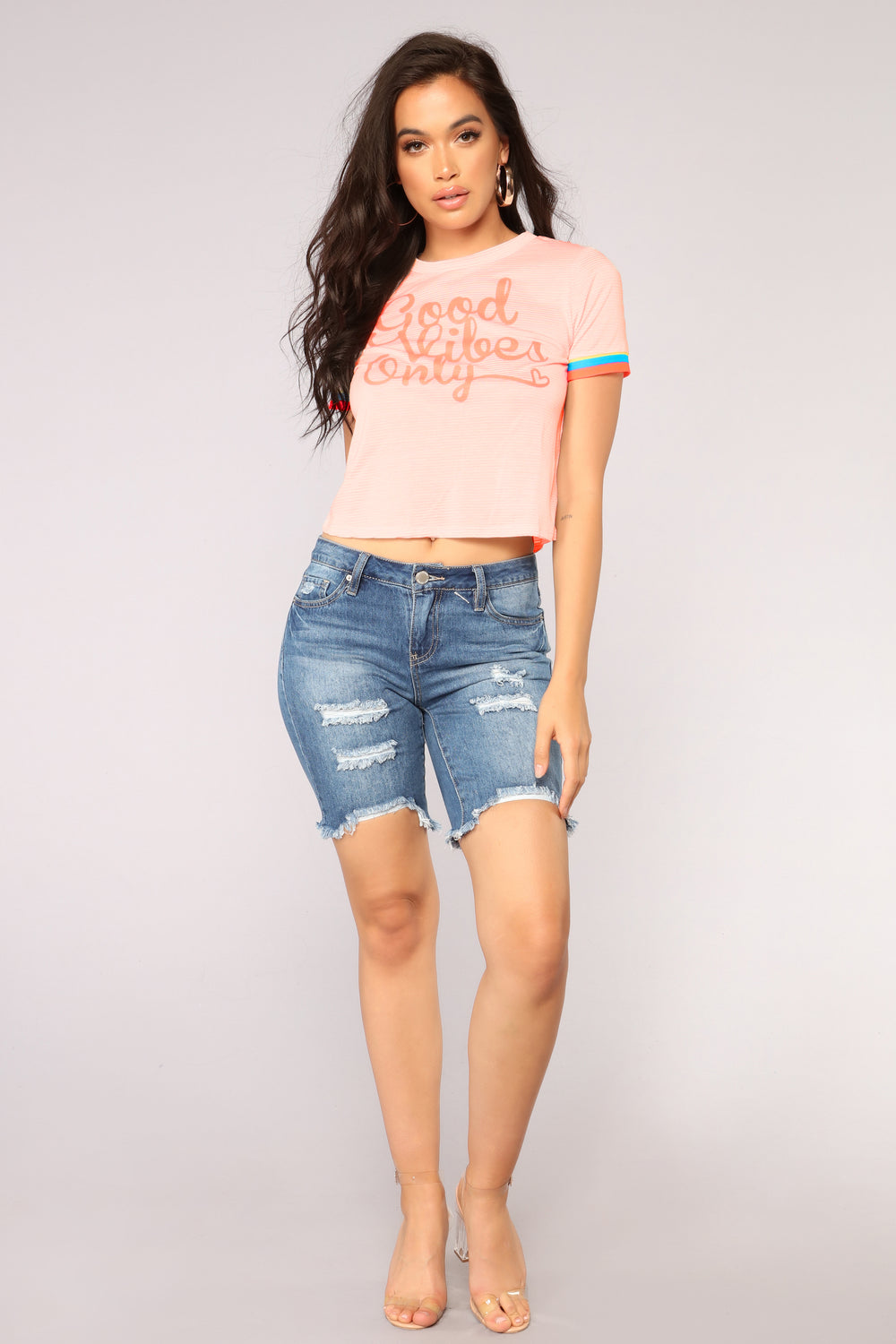 Motto To Follow Tee - Coral