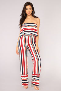 Best To You Jumpsuit - Red Multi