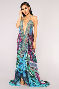 Tropical Living Cover Up - Purple Multi