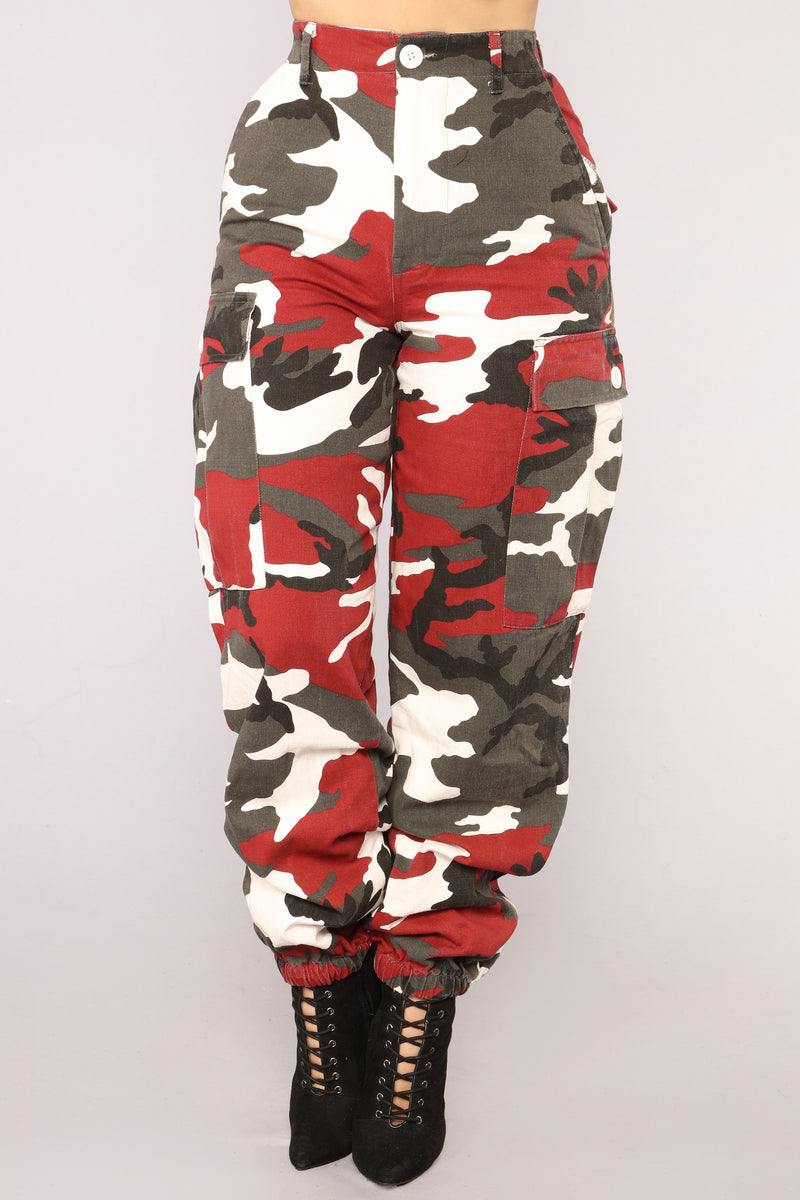 Cadet Kristy Camo Pants - Red