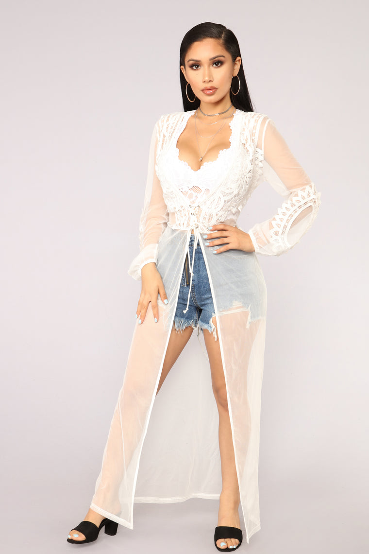 Sugar Coated Cover Up   White by Fashion Nova