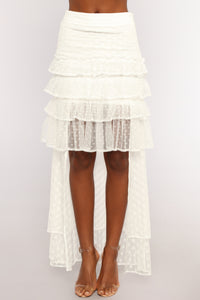 Mia Ruffle Skirt - White