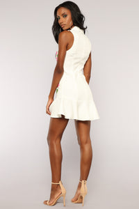 Be A Boss Blazer Dress - White Angle 4