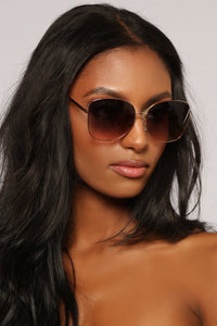 From Another World Sunglasses - Rose Gold