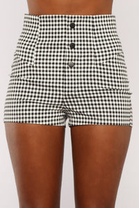 Modern Short Set - Black/White