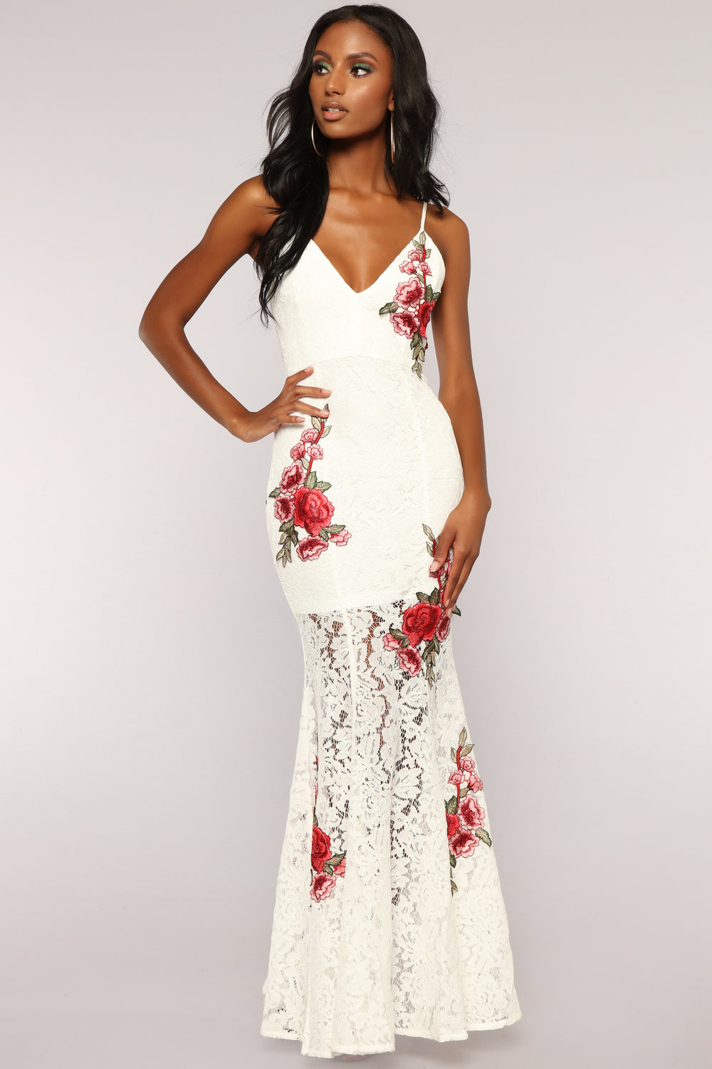 Rose All Day Lace Dress - White