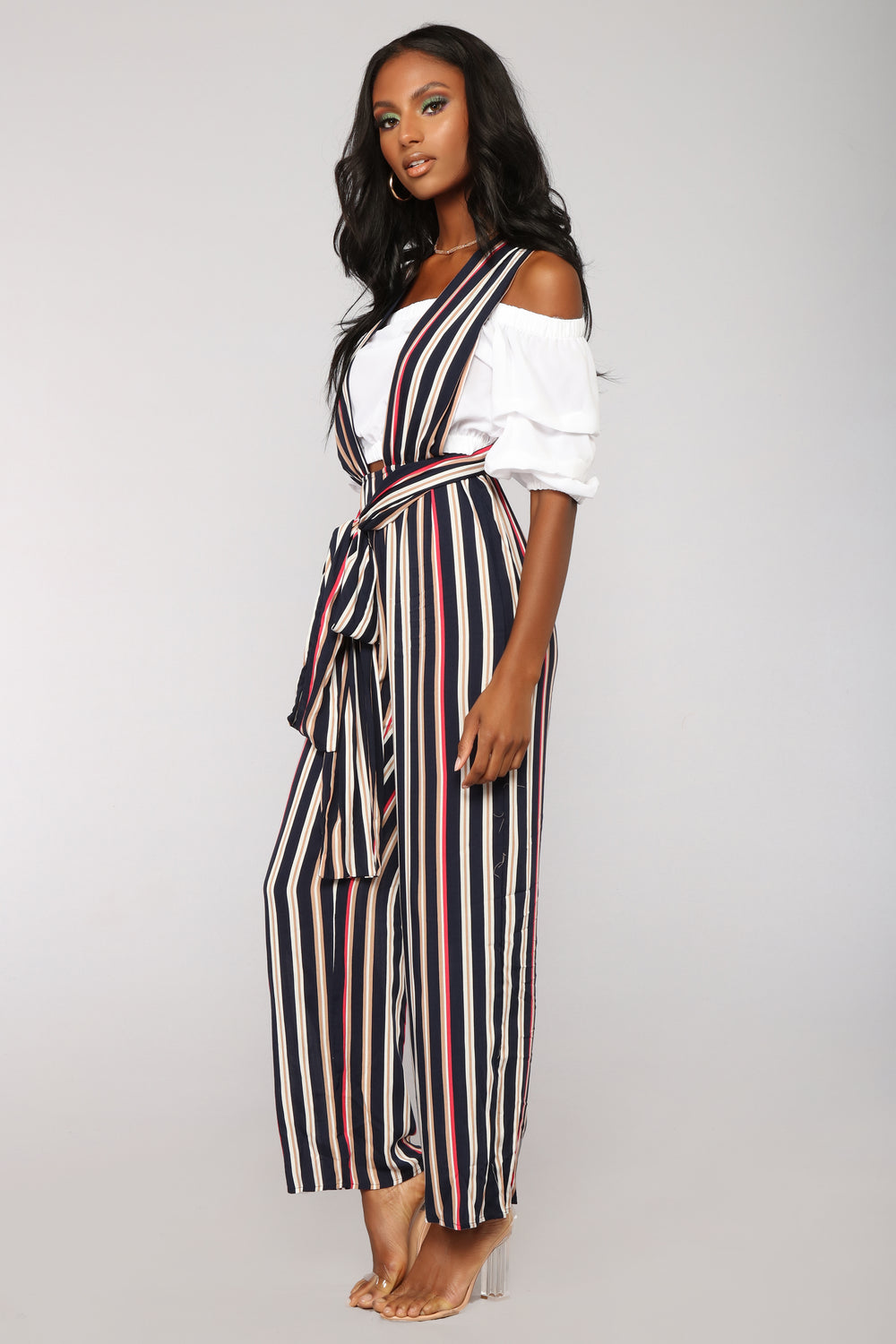 Mean Streak Jumpsuit - Navy/Multi