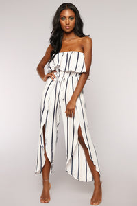 Nemesis Striped Jumpsuit - White