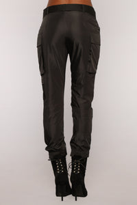 Can't Tell Me Nothing Cargo Joggers - Black