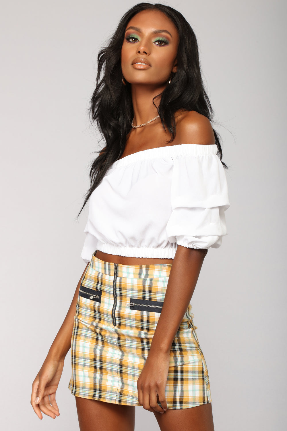 Tomorrow Never Came Off Shoulder Top - White