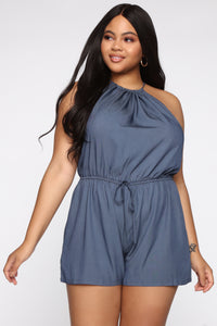 Keep It Alive Romper - Indigo Angle 1