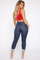 Starry Night Boyfriend Jeans - Dark Denim