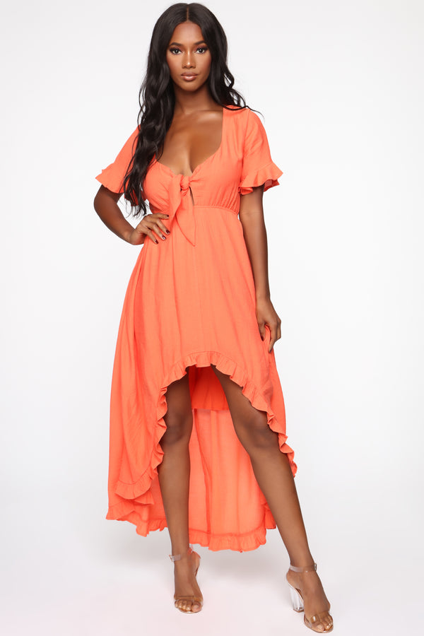 ea74d4d5d4c Longing For Sunshine Ruffle Maxi Dress - Orange