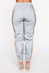 Obsessed With My Reflection Joggers - Orange