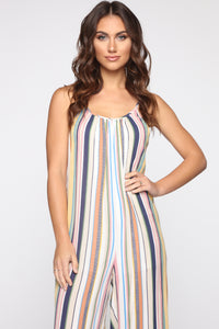 Shannon Striped Jumpsuit - Yellow/Multi Angle 2