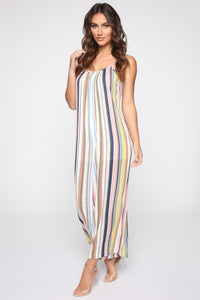 Shannon Striped Jumpsuit - Yellow/Multi Angle 3