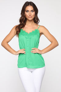 Touch Of Lace Cami - Kelly Green