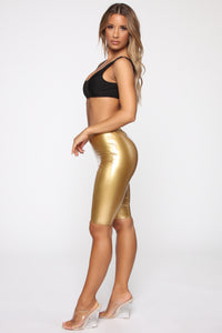 Boot Camp Biker Short - Gold Angle 4