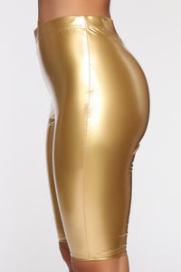 Boot Camp Biker Short - Gold Angle 3