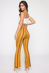 Feeling Entitled Flare Pants - Red/Multi