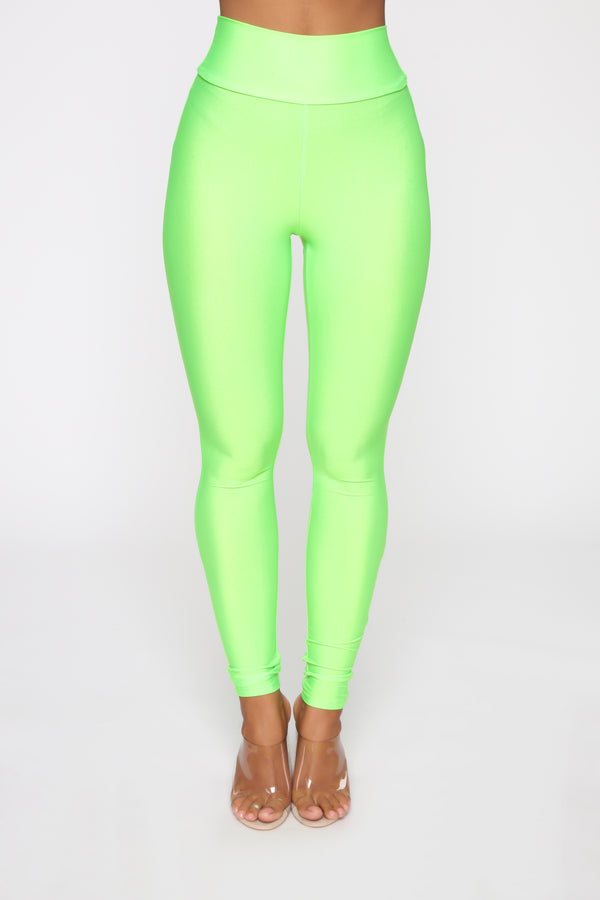 5fa581594 Focus On Me Ruched Leggings - Neon Green