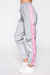 Obsessed With My Reflection Joggers - Pink