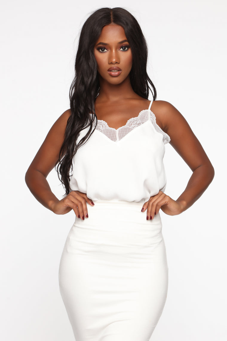 Keep It Classic Cami - White