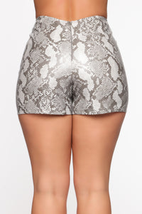 Snake Scales Mini Skirt - Grey