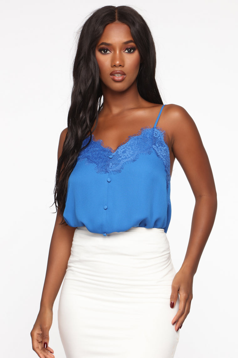 Touch Of Lace Cami - Royal