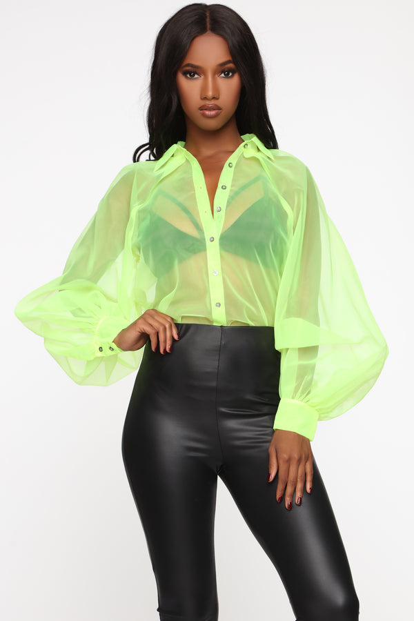 bcde289296f Last Time Lover Top - Neon Yellow