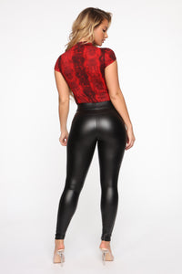 Not So Harmless Snake Bodysuit - Red