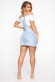 It's In Your Jeans Overall Skirt - Light Blue Wash