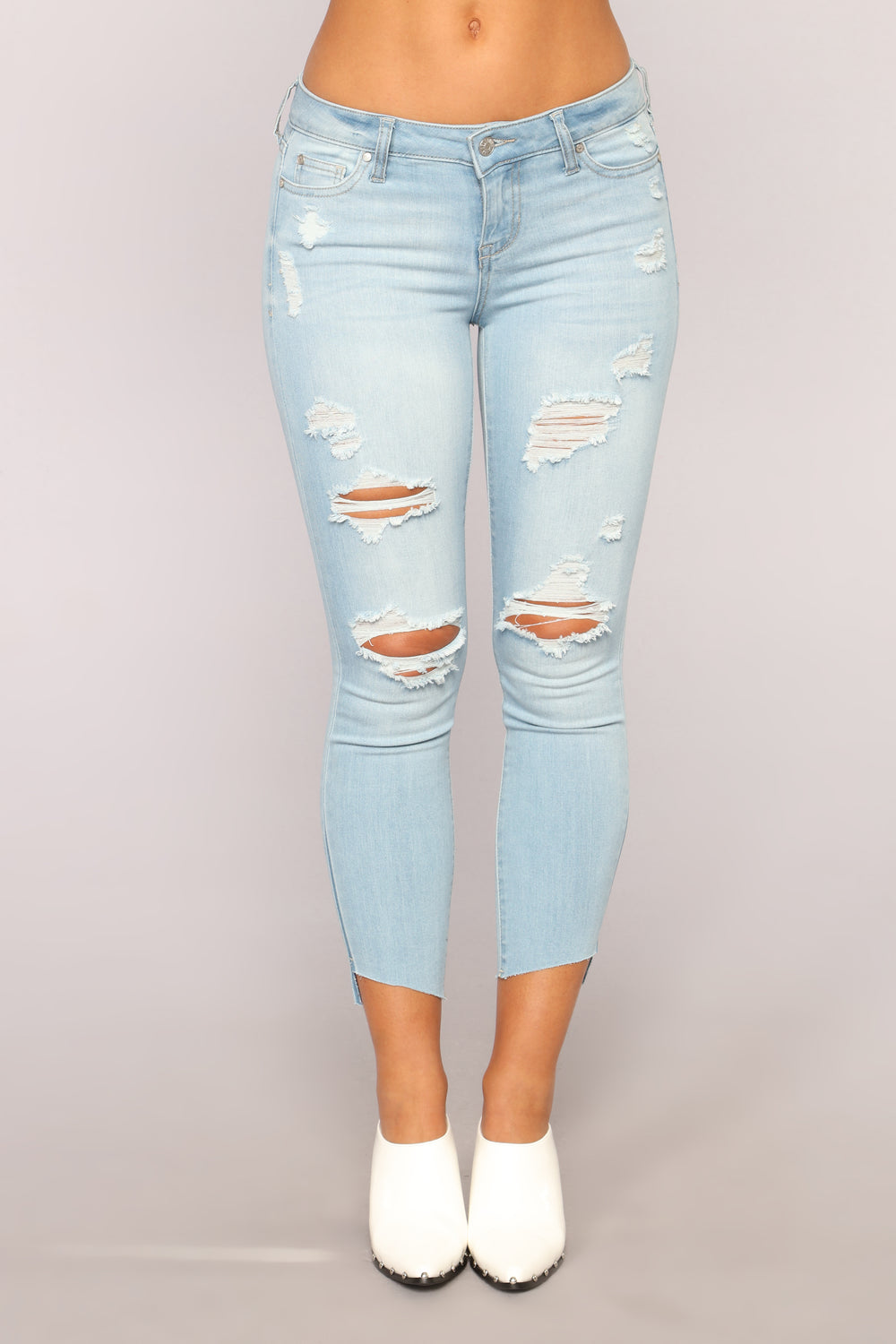 Always On It Ankle Jeans - Light Blue Wash